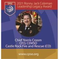 Fire Chief Norris Croom receives Ronny Jack Coleman Leadership Legacy Award