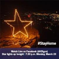 The Star to be lit as a beacon of hope at 7:30 p.m. Monday, March 23