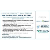 STRIDE Community Health Center Partners with SECORCares to provide OnSite Community COVID-19SwabTest