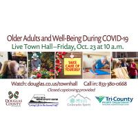 Live Town Hall – Older Adults and Well-Being During COVID-19 October 23 @ 10am