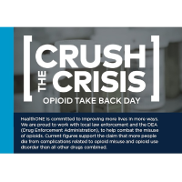Crush The Crisis this Saturday - Opioid Take Back Day -