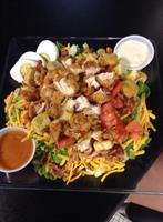 Our salads are the best.  Get them with chicken tenders, grilled chicken or chef.  We use real bacon!