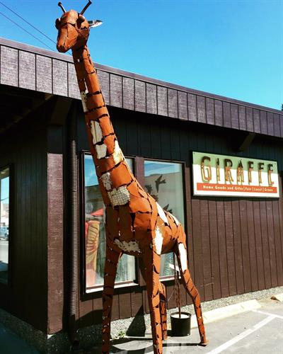 Twiga de Cove  made  on Vashon by David Erue  standing tall at our new location