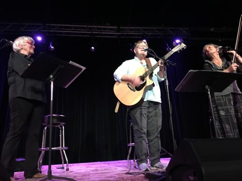 Ferron, Jami Sieber and Cris Williamson performed a sold-out show during the summer of 2019 to benefit DOVE