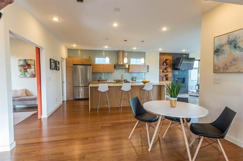 Seattle Home Staging with a modern style.  Photo credit:  John deGroen