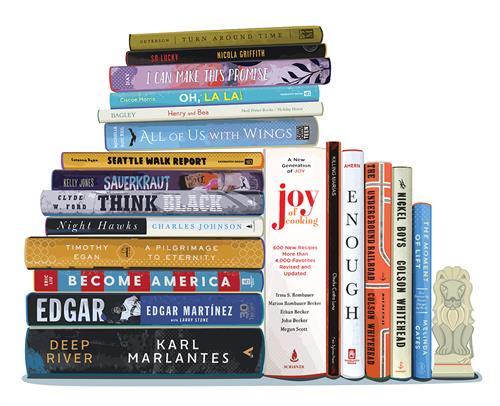 KCLS Literary Lions Gala Bookshelf