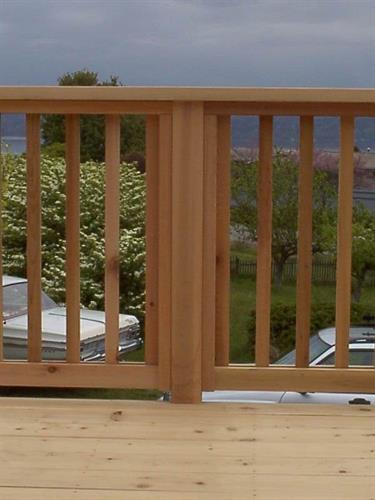 Cedar Deck Rail detail