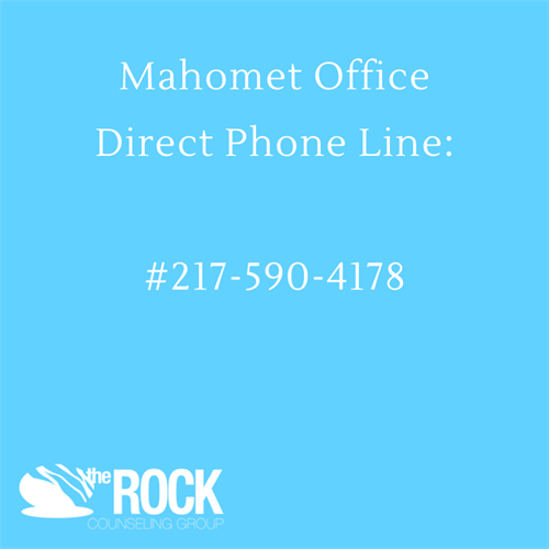 The Rock Counseling Group of Mahomet, IL and Champaign, IL direct phone number to Mahomet location