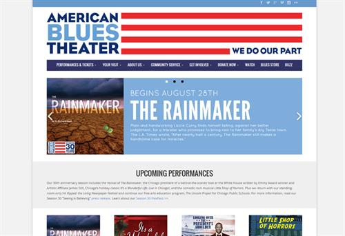 Website Example: American Blues Theater Chicago