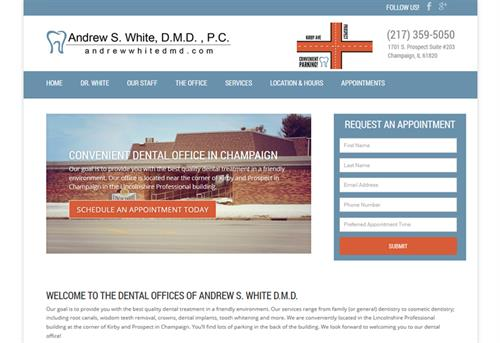 Website Example: Andrew White DMD