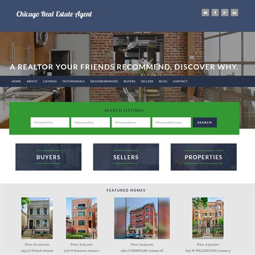 Website Example: John Vossoughi Real Estate