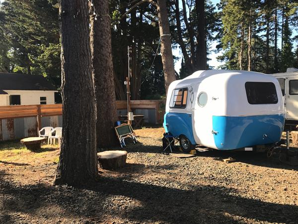 Tiny to Big RV's in our full hook-up micro-RV park