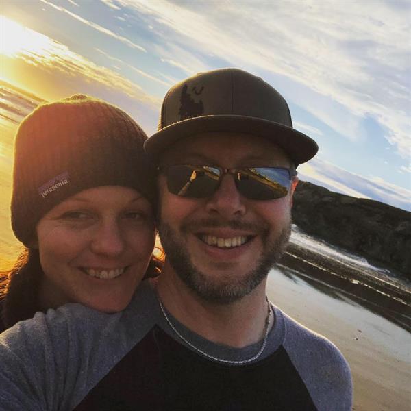 My wife and I enjoying life on the coast!