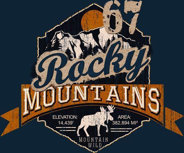 Rocky Mountains T-shirt Design