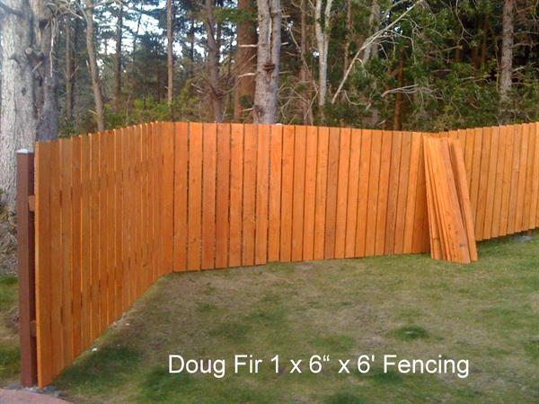 "Douglas Fir rough full sawn 1x6"" 6' fencing"