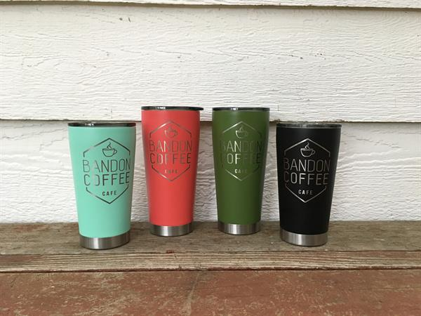 Merchandise too!  Tumbler mugs in a full array of colors