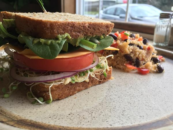 Loaded Veggie Sandwich, one of our daily lunch offerings