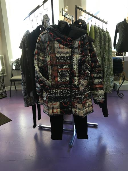 Our Art to Wear puffer coat.