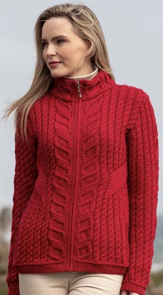 The prettiest red in merino wool.