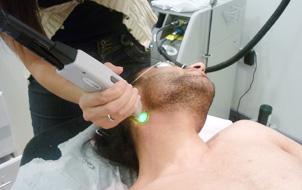 We offer laser hair removal, even for men