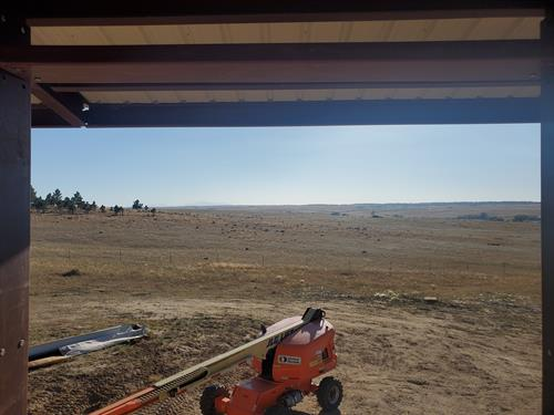 The view from our new build kitchen window in Kiowa