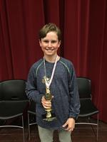 District Spelling Bee Winner Coy Weber