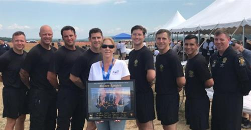 US Army Golden Knights team presented lithograph to Council President