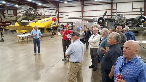 Members tour the New England Air Musuem