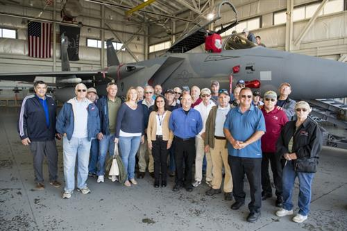 Members tour the 104th Fighter Wing at Barnes