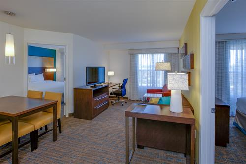 Spend a night in one of our two-bedroom suites with full kitchen