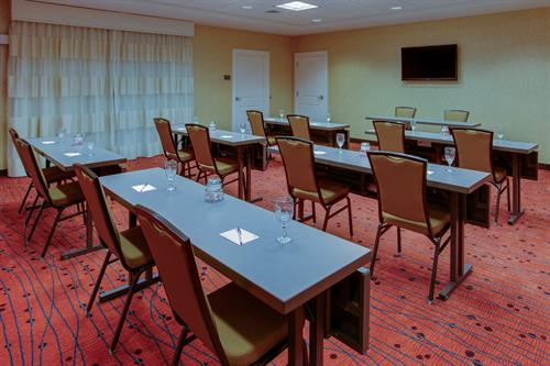 We can accommodate small meetings and function up to 35 people.