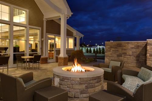 Enjoy a relaxing evening in front of our fire pit with friends and family