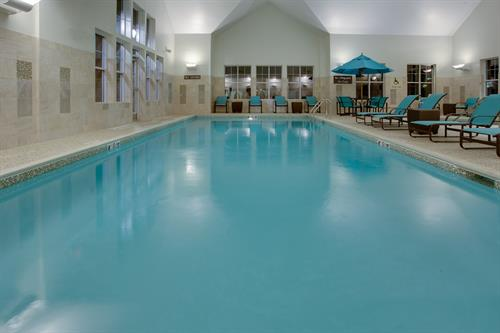 Relax in our indoor heated saltwater pool