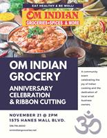 Om Indian Grocery Anniversary Celebration & Ribbon Cutting
