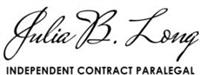 Julia B. Long/Independent Contract Paralegal