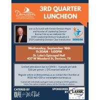 2020 Chamber 3rd Quarter Luncheon & Leadership Graduation Presented by Classic of Texoma