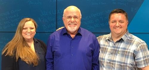 My wife and I with no other than the financial guru himself - Dave Ramsey