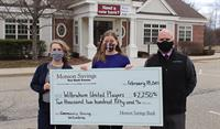 Monson Savings Bank Donates $2,250 to Wilbraham United Players