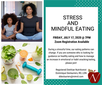 Registered Dietitian Offering FREE Nutrition Class on Stress and Mindful Eating