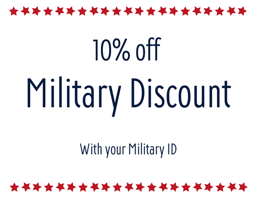 10% Military Discount everyday