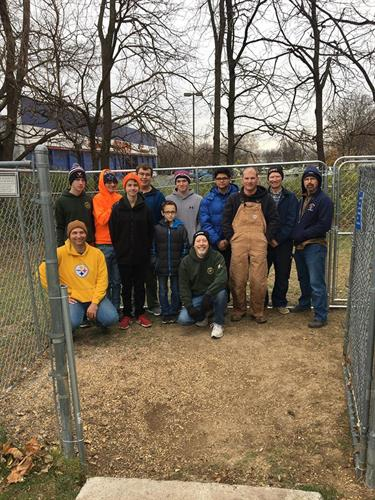 Eagle Scouts help SPCA with repairs