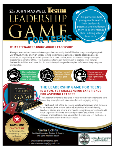 The Leadership Game for Teens