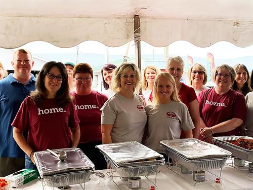 The F&M Shenandoah County and Timberville team provide lunch for seniors at the Shenandoah County Fair