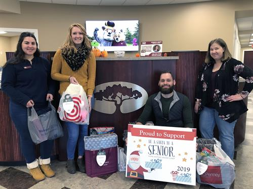 We love to support the annual Santa to a Senior program during the holidays!