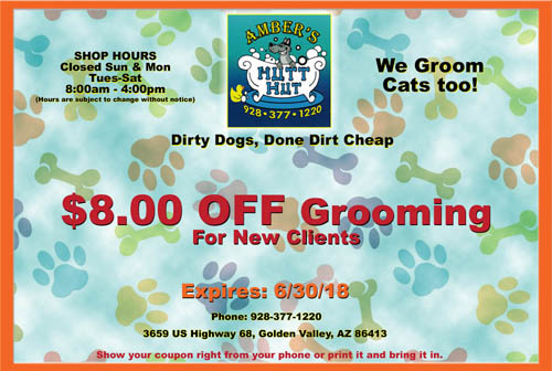 Coupon for Amber's Mutt Hut