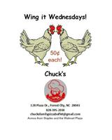 fifty cent wings all day every Wednesday.