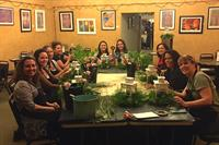 Floral design workshops available for private parties and corporate team - building