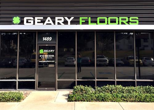 Geary Floors channel letters