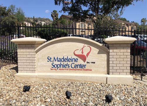 Monument sign for St. Madeleine