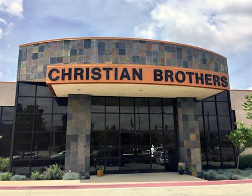 Christian Brothers formed plexiglass letters